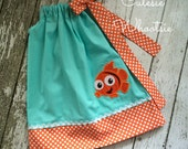 Finding Nemo Inspired Birthday Bow Halter Dress 12 18 2 3 4 5 6 8