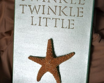 Large Twinkle, Twinkle, Little Starfish Beach Theme Wall Sign