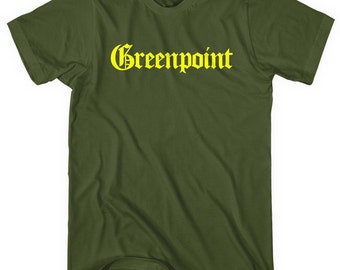 Greenpoint Gothic Brooklyn T-shirt - Men and Unisex - XS S M L XL 2x 3x 4x - Greenpoint Tee - 4 Colors
