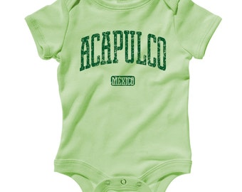 Baby Acapulco Mexico Romper - Infant One Piece - NB 6m 12m 18m 24m - Acapulco Baby - 4 Colors