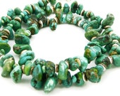 Rare Carico Lake Green Turquoise Gemstone Necklace - Sterling Silver - Unisex Necklace - Rustic Necklace - Artisan Jewelry