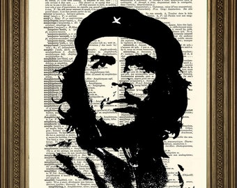 "CHE GUEVARA: Iconic Revolutionary Portrait, Original Vintage Dictionary Page Antique Art Print (8 x 10"")"