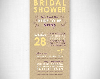 Let's Toast the Bride-To-Be Bridal Shower Invitation - DIY - Digital File - Print Your Own - JPEG - PDF