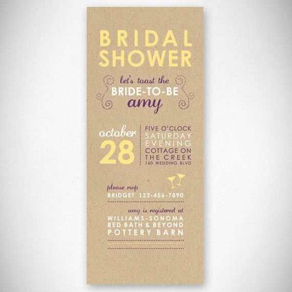 Let's Toast The Bride-To-Be Bridal Shower Invitation DIY
