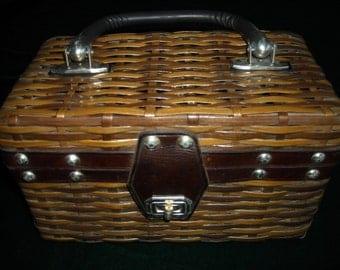 Vintage Wicker Box Purse by Mr. Jonas