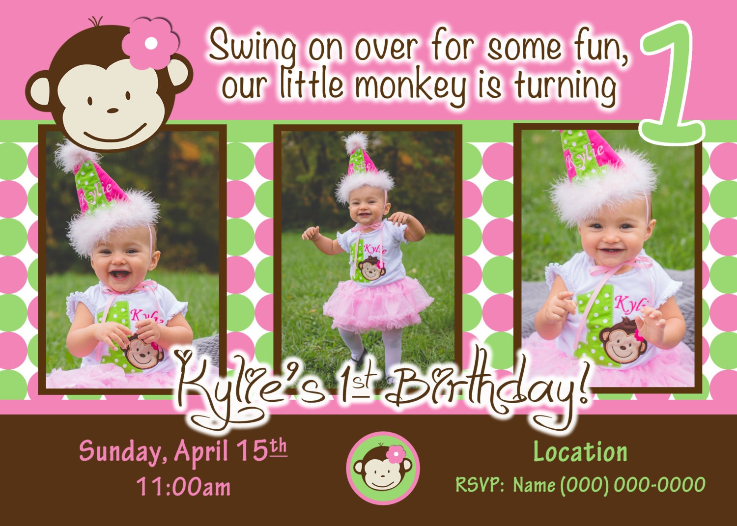 Monkey Love Invitations Monkey Invite Mod Monkey