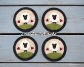 Felt Primitive Sheep Coasters