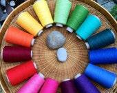 "Organic cotton and cottonlin 15 cone weaving yarns set""weaving rainbows "": saorisantacruz"