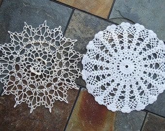 Doilies Nine Inch Lot of Two