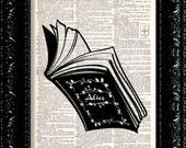 Alice In Wonderland - Storybook - Vintage Dictionary Print Vintage Book Print Page Art Upcycled Vintage Book Art