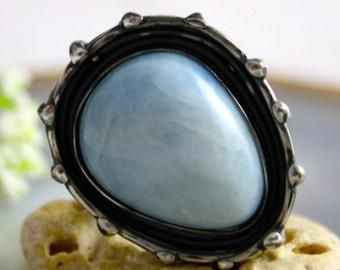 Aquamarine Sterling Silver Statement Ring