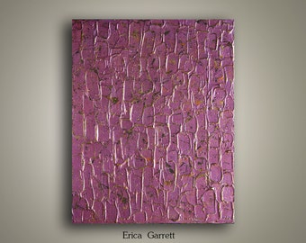 Sale - Purple Abstract Painting on Canvas - Purple Abstract Art - 24x30 Abstract Original Textured Painting - Mauve Decor - Purple Decor