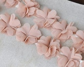 dust pink rosette lace trim for baby handband, wedding bouquet, bridal hair flowers