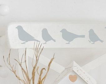 Tweet Border Stencil from The Stencil Studio. Reusable home decor & DIY stencils, simple to use. 10265