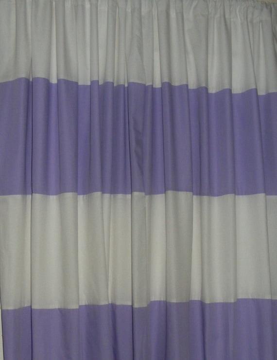 Ready To Ship Drapery Horizontal Handsewn Stripe Curtain