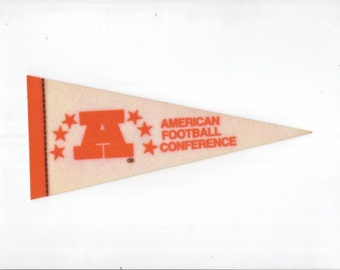 Vintage Football AFC American Football Conference  NFL vtg Felt Pennant Collectibe Vintage 1980s Era Display Sports Football Team vtg Sports