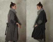 READY TO SHIP reversible linen kimono robe / coat / open front