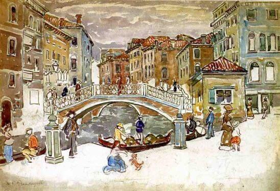 Home Decor Fine Art Print Named Venice The Little Bridge By