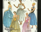 Vintage 1986 McCalls 2800 Retro Red Carpet Gowns Bell of The Ball Full Skirts Fitted Bodices Sizes 12..14
