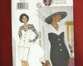 Butterick 5479 Mother of the Bride  Sweetheart Detailed Jacket Color Blocking Perfections & Pencil Skirt Sizes 20..22..24 UNCUT