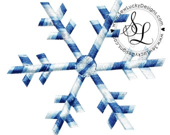 Snowflake Embroidered Patch, Sew or Iron on