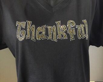 Thankful Bling Shirt  - Thanksgiving Bling Shirt