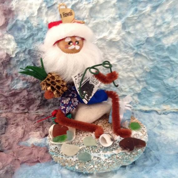 Beach Glass Hawaiian Christmas Ornament Holiday Decor