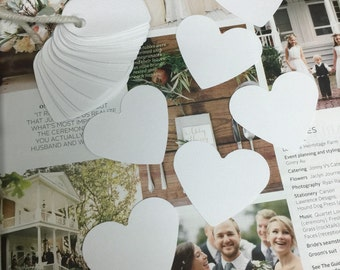50 white hearts tags / wedding tags , Favor Tags, Treat Bag Tags,Product Tags, Hang Tags,Wish Tree Tags, birthday tags ,thank tags, conffeto