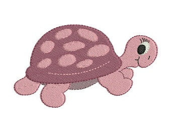 Instant download embroidery design turtle