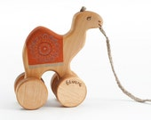 Personalized Camel Toy, Wooden Pull Camel, Kids Toy