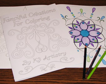 Fanciful Creations Coloring Book for Hours of Coloring Fun and Relaxation