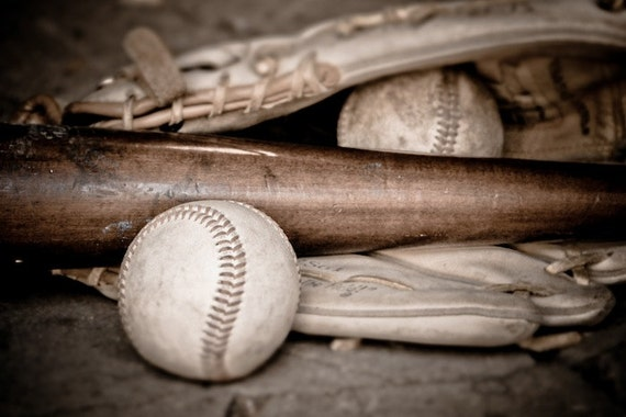 Baseball Print, Sports Decor, Boys Room Childrens Decor, Baseball Bat and Ball Photo, Large Wall Art, Farmhouse Decor, Bar, Fine Art Print