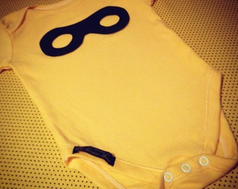 Super Hero Mask Baby Vest Bodysuit