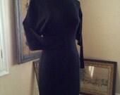Vintage Dolman Sleeve Wool Dress