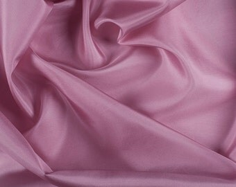 "45"" Wide 100% Silk Crepe de Chine Rose Pink By the Yard"