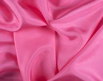 "45"" Wide 100% Silk Crepe de Chine Hot Pink By the Yard"