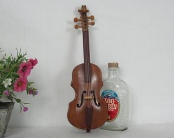 Miniature Violin, Handmade, Folk Art, Musical Instruments