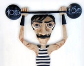 Fun Affordable Home Decor Polymer Clay Painting - Strongman