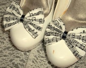 Musical Notes Shoe Clips,  - Shoe Clips, Wedding, Pageant, Prom, Bridal, Womens Accessories, Goth, Gothic