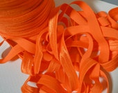"Orange Fold Over Elastic, 5/8"" Width. Orange FOE. 5 Yards. SFOE-3011"