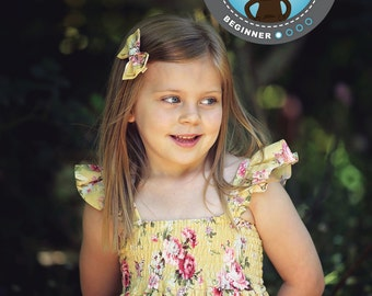 PATTERN Shirred Dress - PDF Pattern and Tutorial (Instant Download)