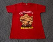 True Vintage Garbage Pail shirt 1985 - Sumo Sid Mail Order T-shirt - GPK trading cards - Screen Stars