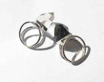 Large Quartz Point Ring
