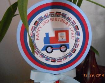 Train Centerpiece-Train Cake Topper-Train Decoration-Train Party Decoration-Train Birthday Decoration-Train Birthday Party-Train Party Decor
