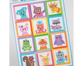 Baby Kids Quilt Pattern Book Sew Cute Critters Taylor Made Designs Patterns Applique and Patchwork designs