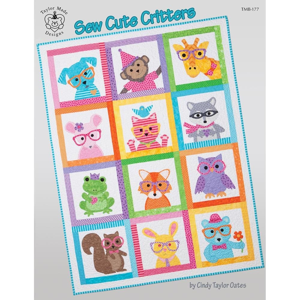 Baby Kids Quilt Pattern Book Sew Cute Critters Taylor Made