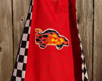 Limited Edition Race Car Cape - Handmade and Reversible