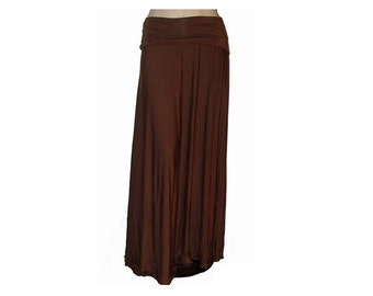 Plus Size Maxi Skirt-Long Skirt-Oragnic Cotton/Bamboo Jersey -Grecian Goddess Skirt-Made to Order Size-Choose Color -XL,2X,3X,4X,5X,6X,7X,8X