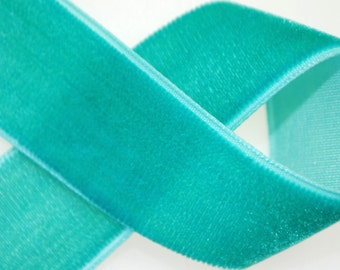 Jade Nylon Velvet Trim 7/8 inches wide - Twelve Yards