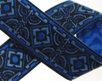 Geo Jacquard Trim 5/8 inches wide - Three, Five, or Ten Yards